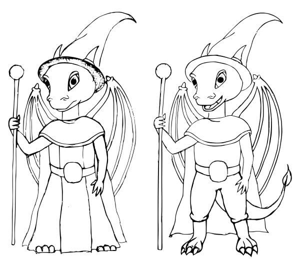3 falkor sketches