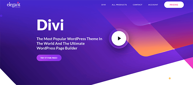 Divi WordPress Theme Builder