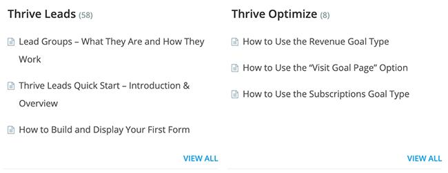 thrive knowledge base 2