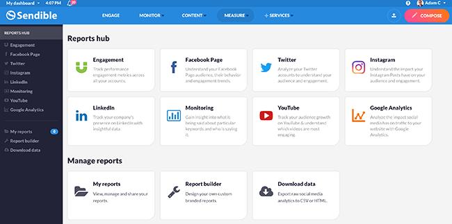 Sendible - Reports Hub