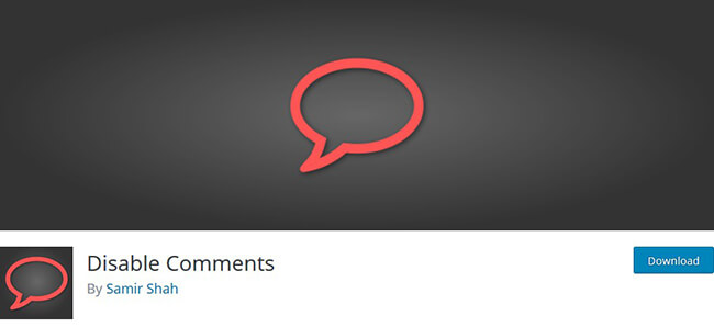 disable comments plugin