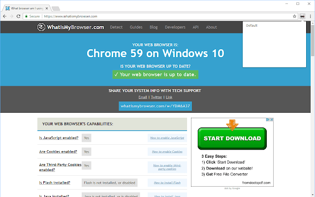 18 User-Agent Switcher