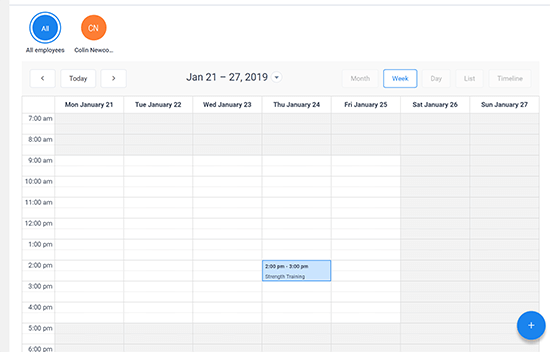 Calendar View Appointments