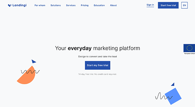 Landingi Homepage