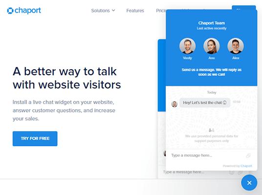 chaport homepage