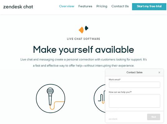 zendesk chat homepage