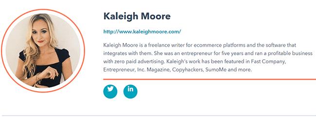 Kaleigh Moore Bio