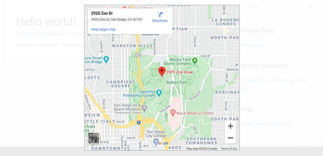 map widget example