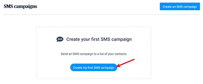 create an sms message