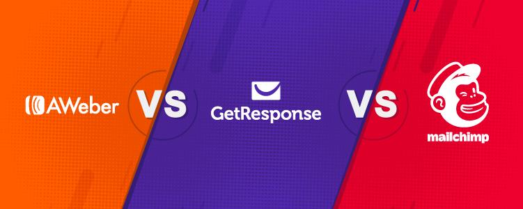 AWeber vs GetResponse vs mailchimp