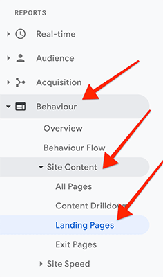 Navigation - Behaviour Site Content