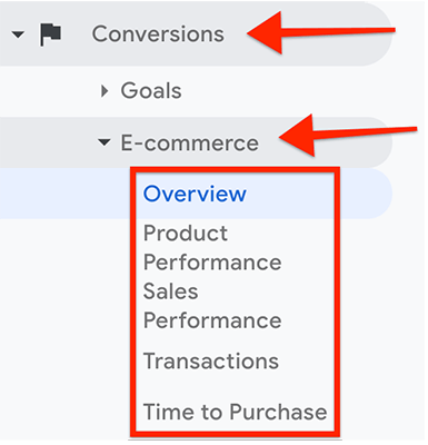 Navigation - Conversions Ecommerce