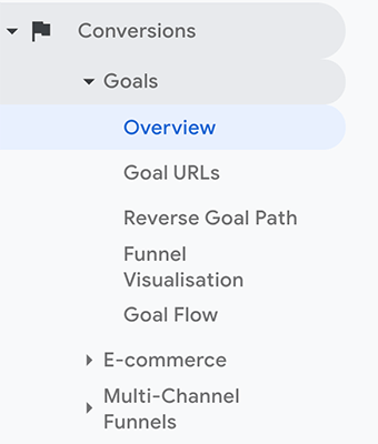 Navigation - Conversions Goals