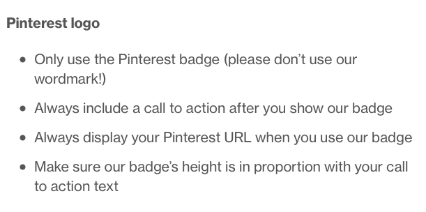 Pinterest Logo Guidelines