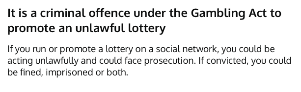 Raffles Lottery Social Media