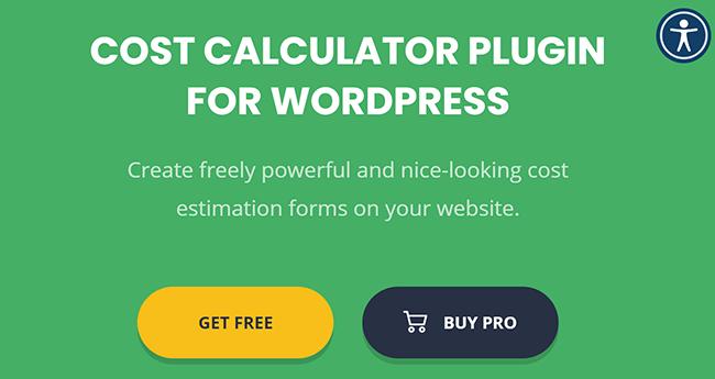 cost calculator plugin for wordpress