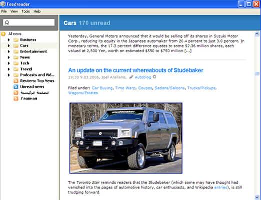feedreader Homepage