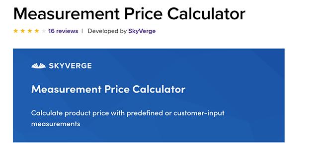 measurement price calculator