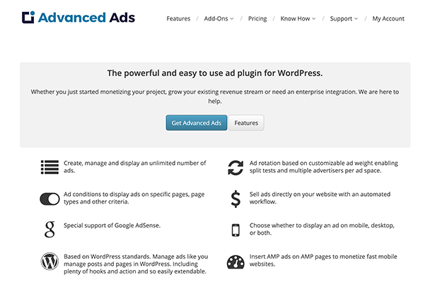 Advanced Ads Homepage