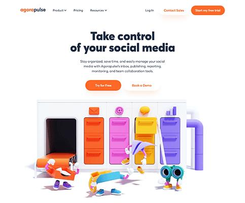 AgoraPulse New Homepage