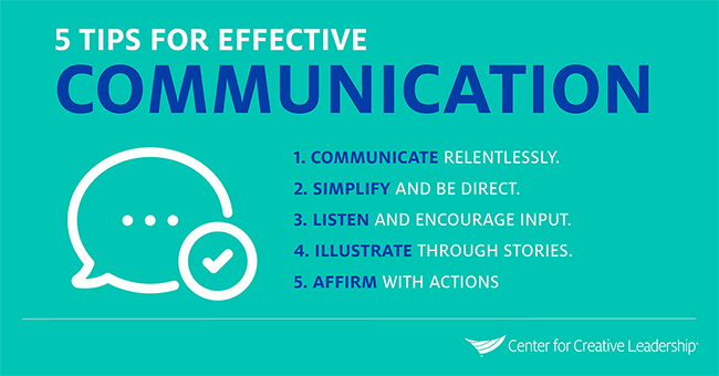 CCL - Tips For Effective Communication