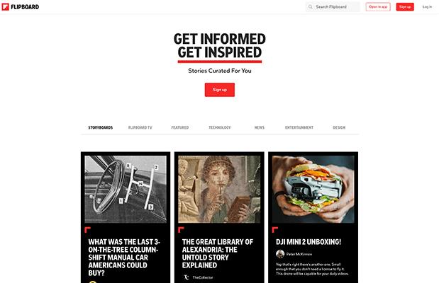 Flipboard Homepage