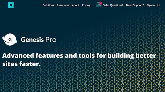 Genesis Pro Homepage