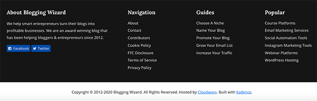 October Redesign - New Footer