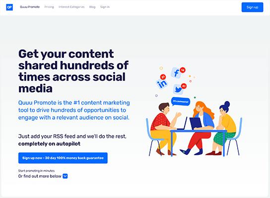 Quuu Promote Homepage