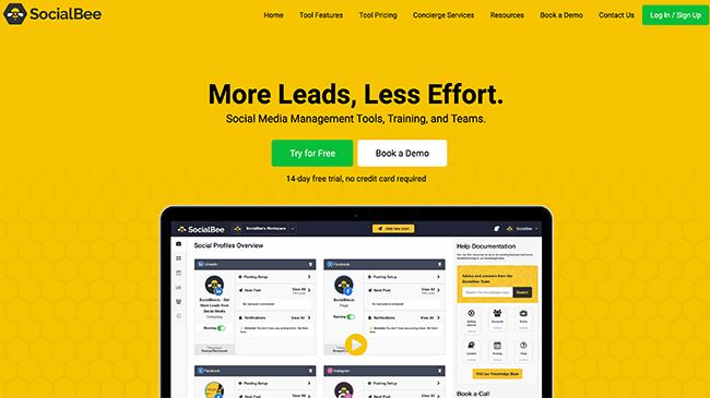 Social Bee Homepage