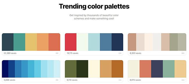 coolors trending colors