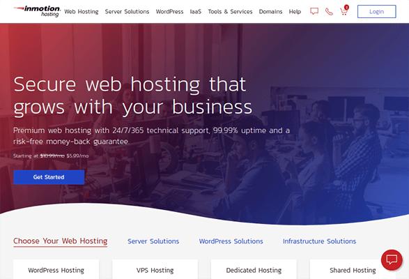 inmotion hosting shared hosting