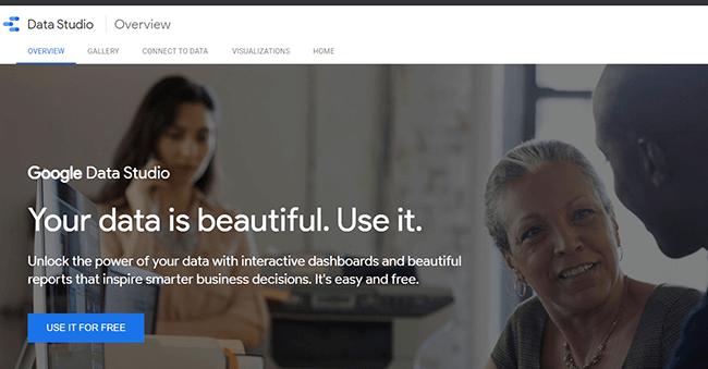Google Data Studio Homepage