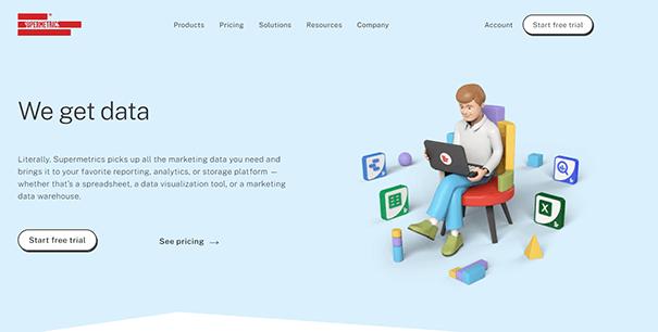 Supermetrics Homepage