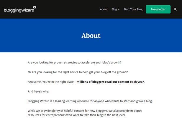 Blogging-Assistent über Seite