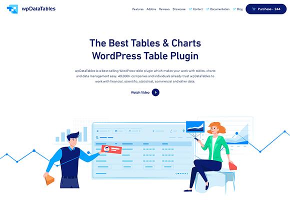wpDataTables Homepage