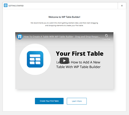 03 Create your first table