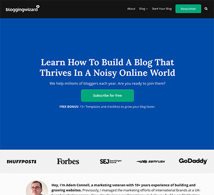 Custom homepage using OptimizePress