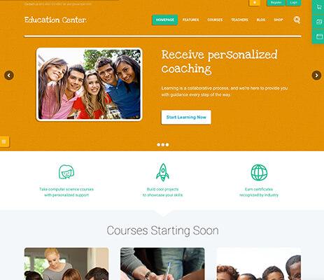 Education Center WordPress Theme Demo