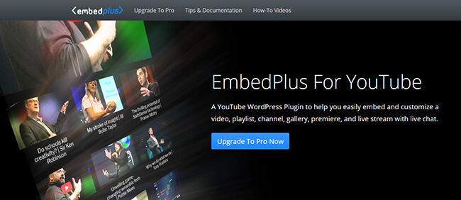 Embed Plus for YouTube Homepage