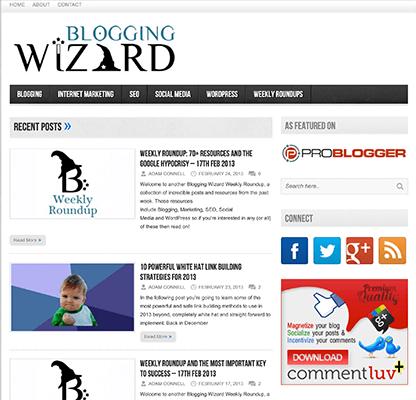 First design of Blogging Wizard