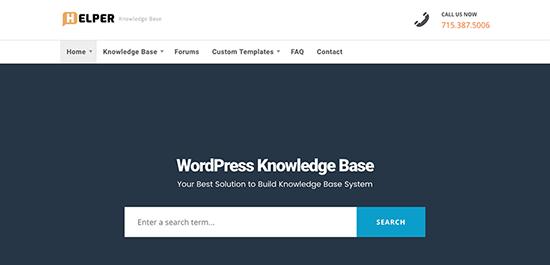 Helper Knowledge Base WordPress Themes