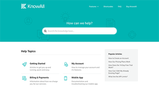 KnowAll Knowledge Base WordPress Themes
