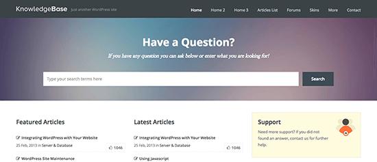 Knowledge Base Knowledge Base WordPress Themes