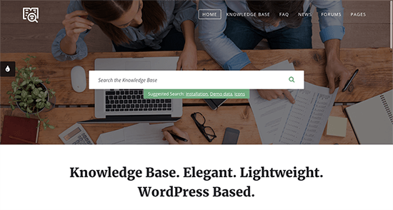 Lore Knowledge Base WordPress Themes