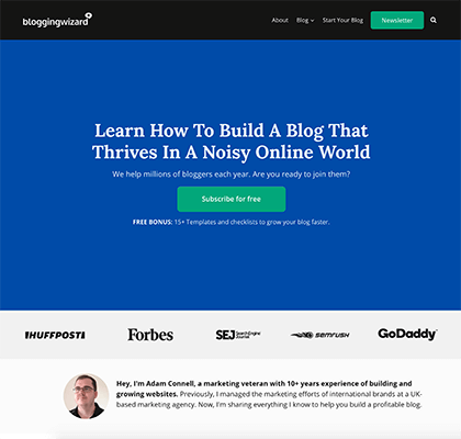 New design of Blogging Wizard