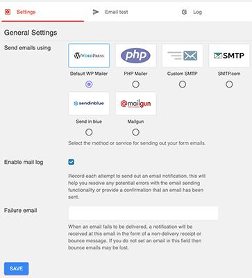 Optional SMTP setup