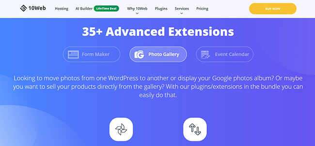 Photo Gallery by 10Web Homepage