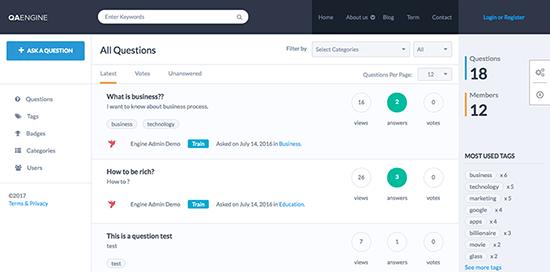 QAEngine Knowledge Base WordPress Themes
