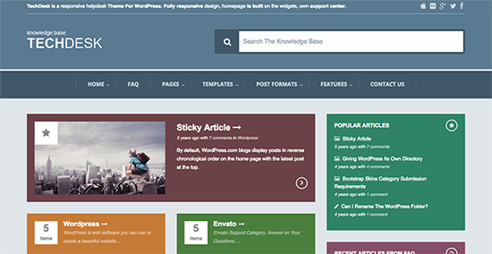 TechDesk Knowledge Base WordPress Themes